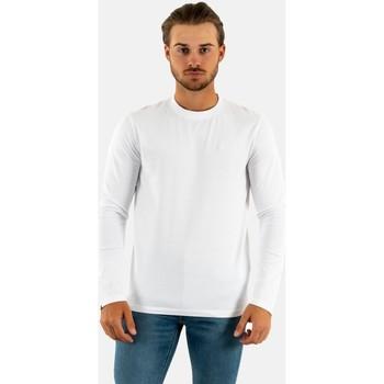 Vêtements Homme T-shirts manches longues Superdry m6010550a 01c optic blanc