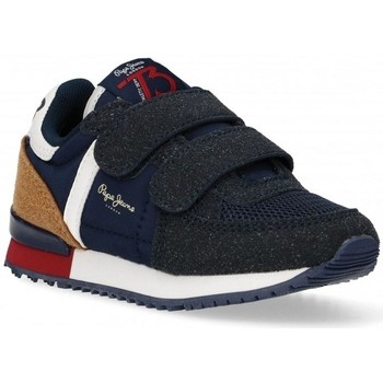 Chaussures Garçon Baskets basses Pepe jeans SYDNEY COMBI BOY KIDS Bleu