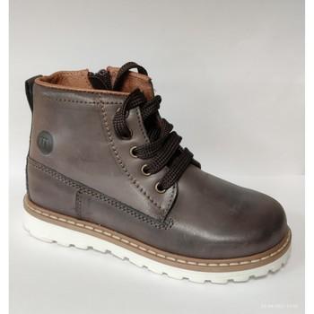 Chaussures Garçon Boots Melania Polacco Lacci Maschio Marrone Marron