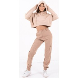Vêtements Femme Sweats Sixth June Sweatshirt Crop Top femme  Acid Printed beige