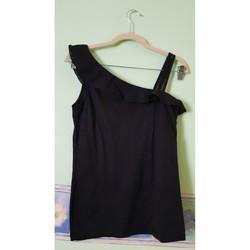 Vêtements Femme Débardeurs / T-shirts sans manche Caroll Haut one shoulder Noir