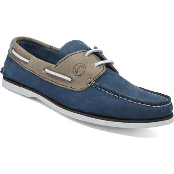 Chaussures Femme Chaussures bateau Seajure Chaussures Bateau Vicentina Chameau et Bleu