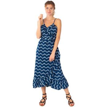 Vêtements Femme Robes longues Coton Du Monde Sacha Tie Dye Marine