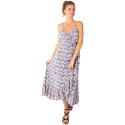 Vêtements Femme Robes longues Coton Du Monde Sacha Tie Dye Taupe