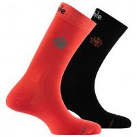 Accessoires Homme Chaussettes Achile Lot de 2 paires de mi-chaussettes petit logo Orange