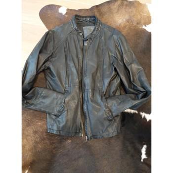 Vêtements Homme Blousons Ikks Blouson cuir IKKS Noir