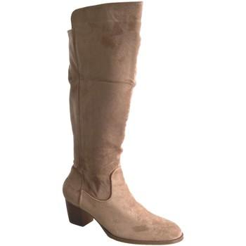 Chaussures Femme Bottes ville Buonarotti 1A-0467 Beige
