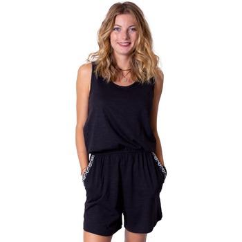 Vêtements Femme Combinaisons / Salopettes Coton Du Monde -short Sabine brodée Noir