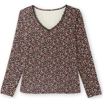 Vêtements Femme T-shirts manches longues Balsamik Tee-shirt fluide manches longues imprimrose