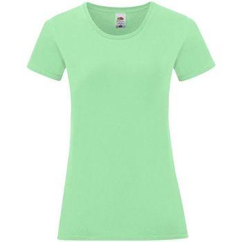 Vêtements Femme T-shirts & Polos Fruit Of The Loom 61432 Vert pâle