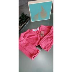 Vêtements Fille Gilets / Cardigans ZA Girls Gilet court 2-3ans Rose