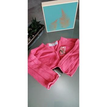 Vêtements Fille LA MODE EST A VOUS ZA Girls Gilet court 2-3ans Rose