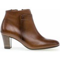 Chaussures Femme Bottines Gabor Bottines cuir talon  bloc décroché Marron