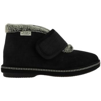 Chaussures Femme Chaussons La Maison De L'espadrille 68304 Noir