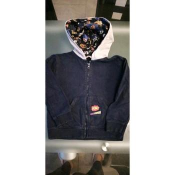 Vêtements Garçon Gilets / Cardigans Du Pareil Au Meme Gilet à capuche Bleu