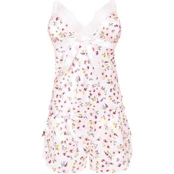 Vêtements Femme Pyjamas / Chemises de nuit Brigitte Bardot Top Short ivoire Pétale Blanc