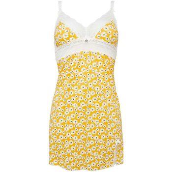 Vêtements Femme Pyjamas / Chemises de nuit Brigitte Bardot Nuisette jaune Parisienne Jaune