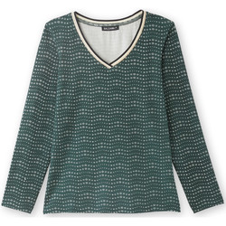 Vêtements Femme Pull Manches Fantaisie Balsamik Tee-shirt fluide manches longues imprimfondvert