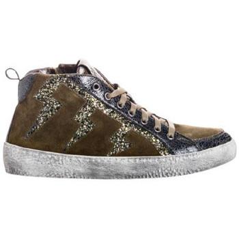 Chaussures Femme Baskets mode Reqin's Basket brienne mix glitter vert
