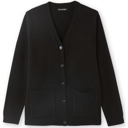 Vêtements Femme Gilets / Cardigans Balsamik Gilet classique manches longues noir