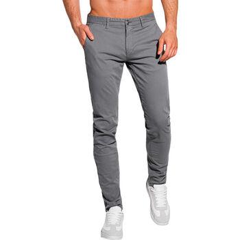 Vêtements Homme Chinos / Carrots Monsieurmode Pantalon chino pour homme Pantalon 1090 gris Gris