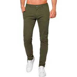 Vêtements Homme Chinos / Carrots Monsieurmode Pantalon chino homme Pantalon 1090 vert kaki Vert