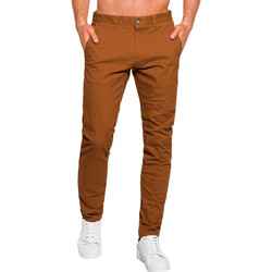 Vêtements Homme Chinos / Carrots Monsieurmode Pantalon chino pour homme Pantalon 1090 marron Marron