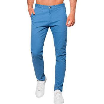 Vêtements Homme Chinos / Carrots Monsieurmode Pantalon chino pour homme Pantalon 1090 bleu Bleu