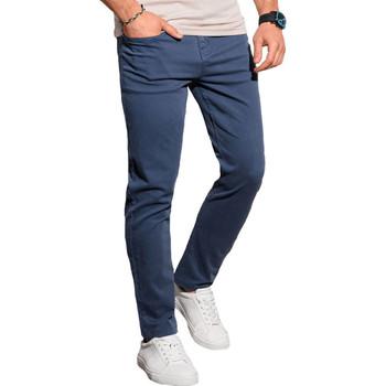 Vêtements Homme Chinos / Carrots Monsieurmode Pantalon chino homme Pantalon 990 bleu foncé Bleu