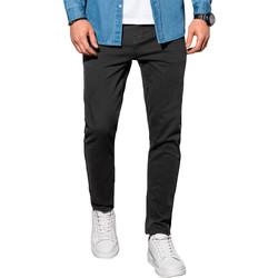 Vêtements Homme Chinos / Carrots Monsieurmode Pantalon homme chino Pantalon 990 noir Noir