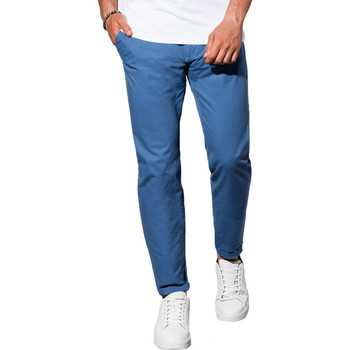 Vêtements Homme Chinos / Carrots Monsieurmode Pantalon chino homme Pantalon 894 bleu roi Bleu