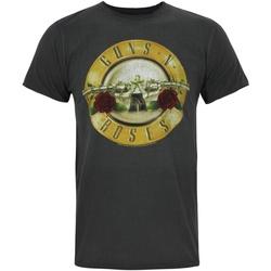 Vêtements Homme T-shirts manches courtes Amplified  Charbon / doré