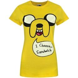 Vêtements Femme T-shirts manches courtes Adventure Time  Jaune