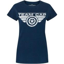 Vêtements Femme T-shirts manches courtes Captain America  Bleu