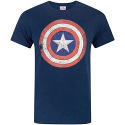 Vêtements Homme T-shirts manches courtes Captain America  Bleu