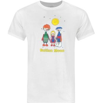 Vêtements Homme T-shirts manches courtes Button Moon  Blanc