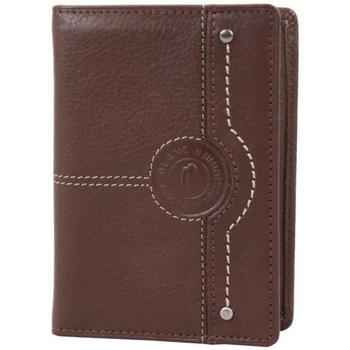 Sacs Homme Pochettes / Sacoches Patrick Blanc Mini portefeuille extra plat en cuir  CX Chocolat Multicolor