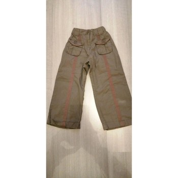 Vêtements Fille Pantalons fluides / Sarouels Sans marque Pantalon ample coupe 3/4 Kaki