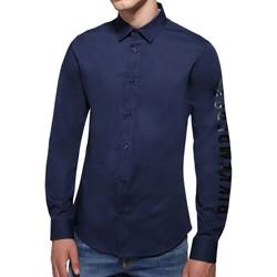 Vêtements Homme Chemises manches longues Bikkembergs Chemises  Bleu Bleu