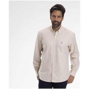 Vêtements Homme Chemises manches longues Gentleman Farmer CAHORS Beige