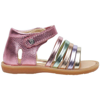 Chaussures Fille Sandales et Nu-pieds Naturino RUBINO-sandale semi-ouverte en cuir rose