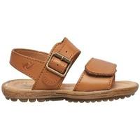 Chaussures Garçon Sandales et Nu-pieds Naturino KENNY-sandale d'été en cuir marron