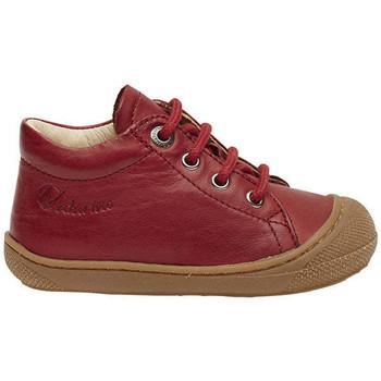 Chaussures Baskets montantes Naturino COCOON-petites chaussures premiers pas en cuir nappa grenat