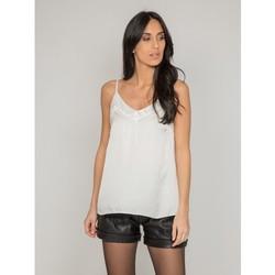 Vêtements Femme T-shirts & Polos Dona X Lisa Top à bretelles FIGARI Blanc