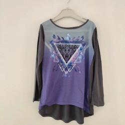 Vêtements Fille T-shirts manches longues Punkidz T-shirt fluide asymétrique Violet