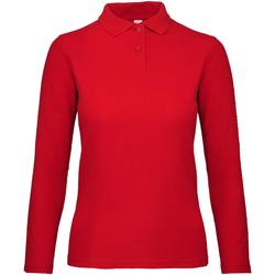 Vêtements Femme Polos manches longues B And C PWI13 Rouge