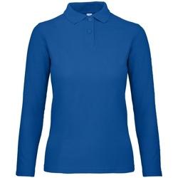 Vêtements Femme Polos manches longues B And C PWI13 Bleu roi