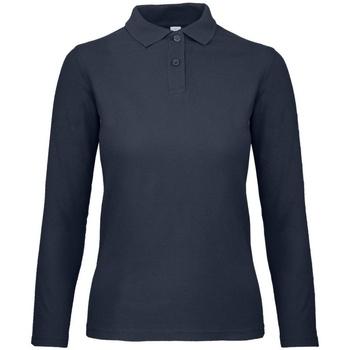 Vêtements Femme Polos manches longues B And C PWI13 Bleu