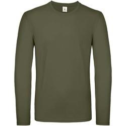 Vêtements Homme T-shirts manches longues B And C TU05T Kaki