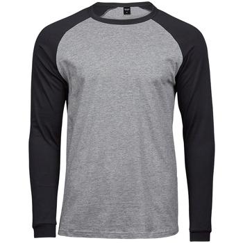 Vêtements Homme T-shirts manches longues Tee Jays T5072 Gris chiné / noir